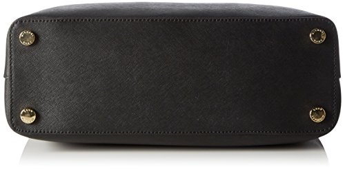MICHAEL Michael Kors Savannah Large Leather Satchel Nero Nero