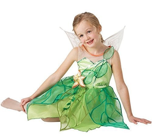 Mädchen Offiziell Disney Tinkerbell Fee + Wings Büchertag Woche Pixie Kostüm Kleid Outfit 3-8 jahre - 3-4 years