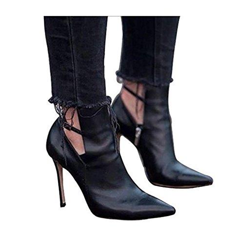 Shoes, Bottes pour Femme - Noir - Schwarz, 41Catisa