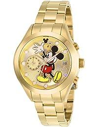 Invicta 27399 Disney Limited Edition Mickey Mouse Reloj para Mujer acero inoxidable Cuarzo Esfera oro