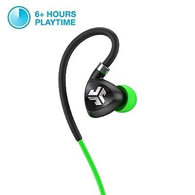 JLab Audio Adapter 2.0sans Fil Bluetooth Écouteurs Sport avec Titane 10mm Pilotes la Batterie de 6Heures Bluetooth 4.1IP55Sweat Proof Indice Extra Gel Conseils Flexibles de mémoire de Fils de Jlab