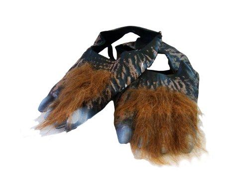 WEREWOLF FEET SHOE COVERS (BROWN) (Werwolf Kostüme Füße)