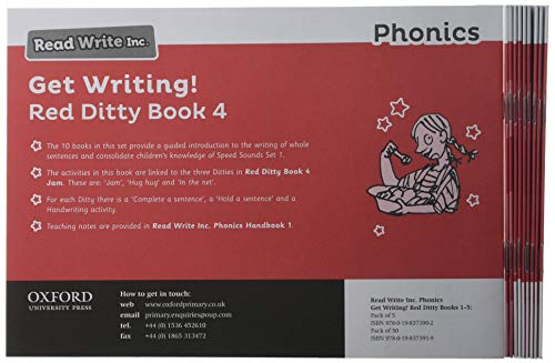 Read Write Inc. Phonics: Get Writing! Red Ditty Book 4 Pack of 10