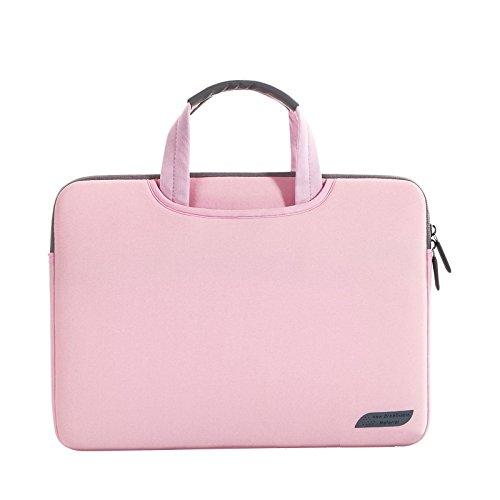 Sea Chance Wasserresistente Lycra Hülle Sleeve Tasche für 13-13,3 Zoll MacBook Pro/ Laptop Tasche / Schutzhülle / MacBook Tasche / Netbook Tasche / MacBook Air 13 / Pro Retina (Rosa) (Top-loading-tasche Laptop)