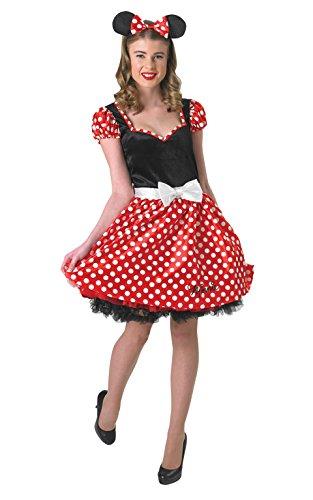 Rubies 3888841 - Kostüm für Erwachsene - Sassy Minnie Mouse Adult, S, rot / weiß