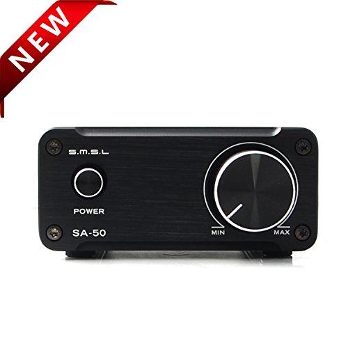 SMSL SA-50 2x50W Hi-Fi Stereo Verstärker Amplifier(Schwarz) (Equalizer Stereo-audio)