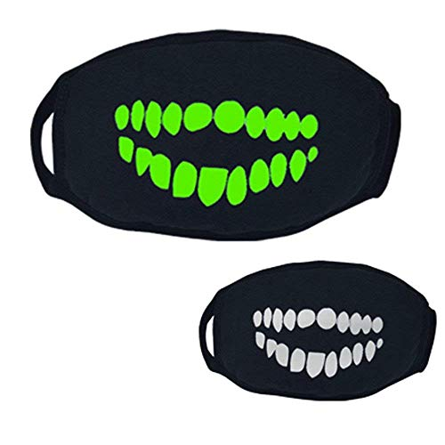 (Qiusa Halloween 26 Stile Schwarz Party Leuchtenden Ghost Skull Half Face Scary Horror Maske (Farbe : S))