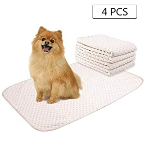 Yangbaga Trainingsunterlagen für Hunde – Trainingsmatten Welpe – Waschbare Welpenunterlage Trainingspads für die Sauberkeitserziehung