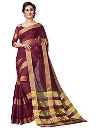 918a024104ea1 Perfectblue Women s cotton Silk Saree With Blouse Piece (5paattaVariation)