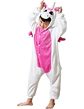 Tongchou Unisex Pigiama Bambini Costumi Halloween Carnevale