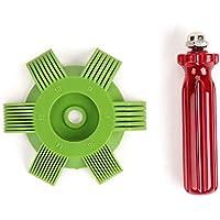 Funnyrunstore Universal Plastic Car A/C Radiador Condensador Evaporador Aleta Enderezadora Coil Comb para Auto Cooling System Tool (Color: verde y rojo)