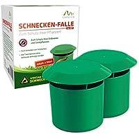 Gardigo Schnecken-Falle 2er Set | Bio Schneckenschutz für den Garten | Umweltfreundliche Schneckenbekämpfung | Sicher und Effizient | Deutscher Hersteller