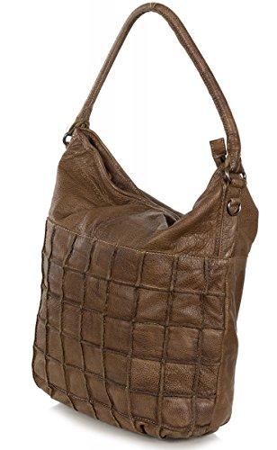FREDsBRUDER Quadratus XL sac femmes hobo en cuir souple (39 x 39 x 9 cm) braun