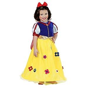 WIDMANN 12859 Princesas de las Favole - Disfraz para niños, multicolor, 104 cm / 2 - 3 años