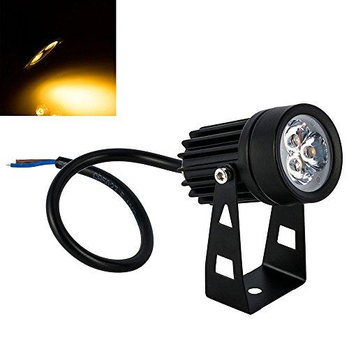 BLOOMWIN Pelouse LED Mini Lampe Projecteur IP65 3x1W AC/85-265v Spot Orientable Éclairage Exterieur pour Paysage Arbre Voie Jardin Terrain Pelouse Blanc Chaud
