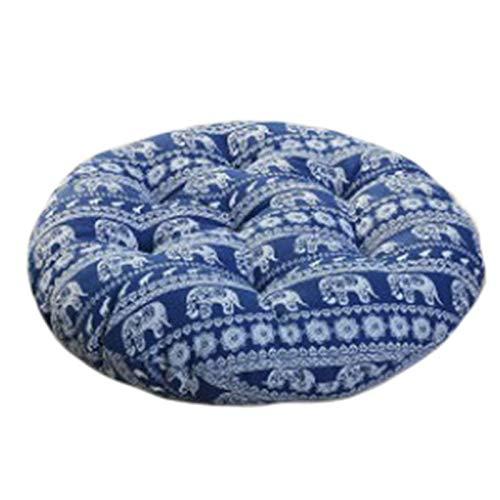 Sitzkissen, rund, Bohemianisches geometrisches Muster, Baumwollleinen, dick, Futon-Kissen, für Fenster, Bürostuhl, Sofa, Kissen, 29 Farben -