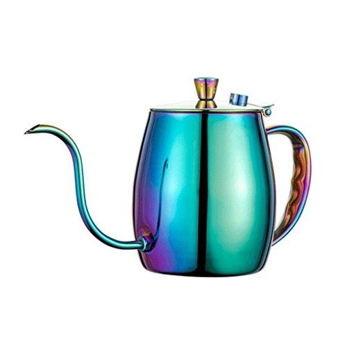 ZHAOJING Cafetera artesanal de boca larga Slim Drip Cafetera casera de acero inoxidable 700 ml ( Color : B )
