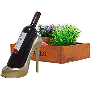 Rosepoem Home High Heel Wine Bottle Holder Stylish Conversation Starter Wine  Rack fc5555a7241e