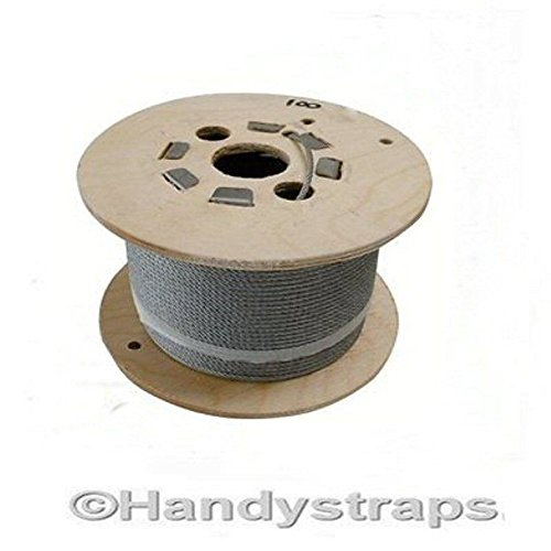 100 Metres of 8mm Dia Galvanised Wire Rope 7 x 19 Flexible Test