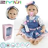 ZIYIUI 22 Pulgadas Reborn Muñecas Baby Dolls Renacer Realista Bebé Suave Vinilo Silicona Azul Los Ojos Recién Nacido Niños Cumpleaños Regalo Juguetes Muñecos Bebé