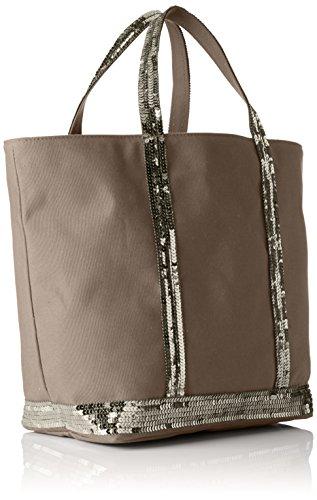 Vanessa Bruno Damen Cabas Moyen Einkaufstasche, 16 x 30 x 43 cm Grau (Ciment)