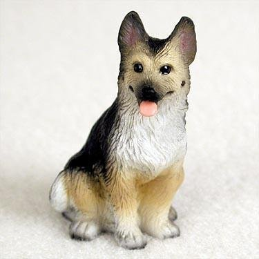 German Shepherd Miniature Dog Figurine - Tan & Black by Conversation Concepts -