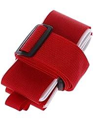 Vivianu - Cinturón de esquí para snowboard rosso