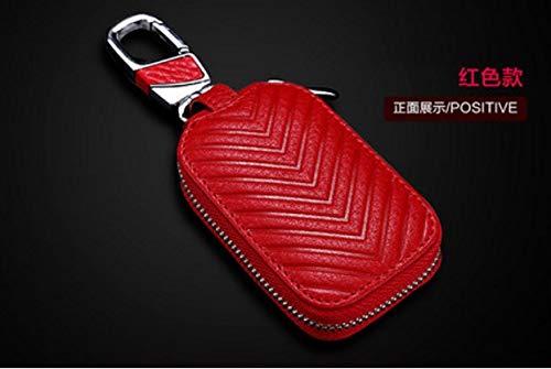 Car Key Bag Key Buckle V-Shaped Zipper Bag Enterprise Gift Style Custom-Made Car Leather Key Bag Cowhide -