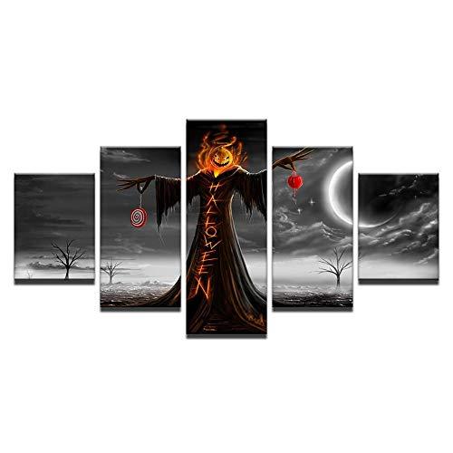 (leinwandbilder leinwandbilder Ölgemälde Moderne heimische Wohnzimmer Sofa Hintergrund Spray Schlafzimmer Leinwand Malerei HD Kunst Kürbis Halloween Art Deco)