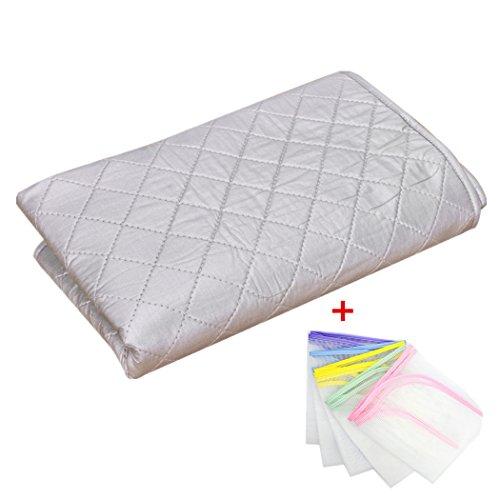 Annakideya ironning, Faltbar für Reise und Zuhause mit One Stück Schutz ironning Mesh Reinigungstuch für Gratis, L: 60*120cm-23.6*47inch