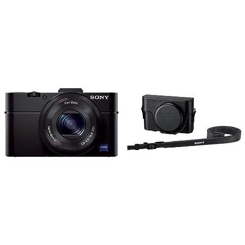 Sony DSC-RX100 II Cyber-shot Digitalkamera schwarz + Sony LCJ-RXF Kameratasche für DSC RX100, RX100 II und RX100 III