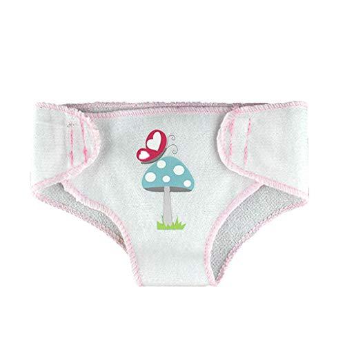 Fornateu 3 Piezas Reutilizables para muñecas Interactivo pañal de Tela Pantalones fijados pañal 17 Pulgadas 43cm Accesorios