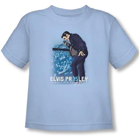 Elvis Presley - - Niño 35Th Anniversary 3 camiseta en azul claro
