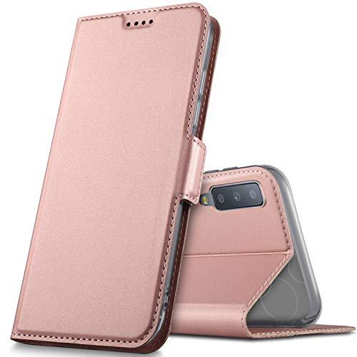 GeeMai Samsung Galaxy A7 2018 Hülle, Samsung Galaxy A7 2018 Leder Hülle Flip Case Wallet Stylish mit Standfunktion Schutzhülle handyhüllen passt für Samsung SM-A750F Galaxy A7 2018 Phone