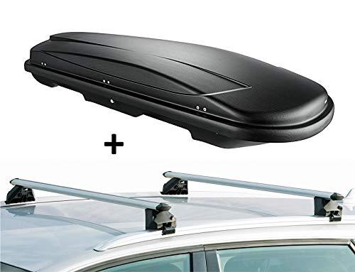VDP Skibox VDPJUXT600 + Alu Relingträger VDPCRV107A kompatibel mit Hyundai ix35 5 Türer 2010-2015