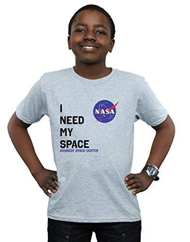 Absolute Cult NASA Niños I Need My Space Camiseta Deporte Gris 12-13...