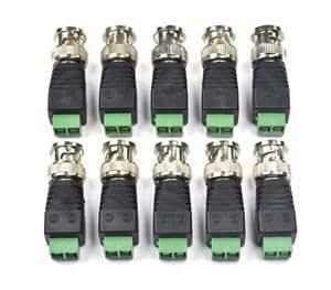 OPTIVISION HIGH QUALITY BNC Connectors(GREEN) for CCTV Camera,[ Pack of 10Pcs. Connectors]