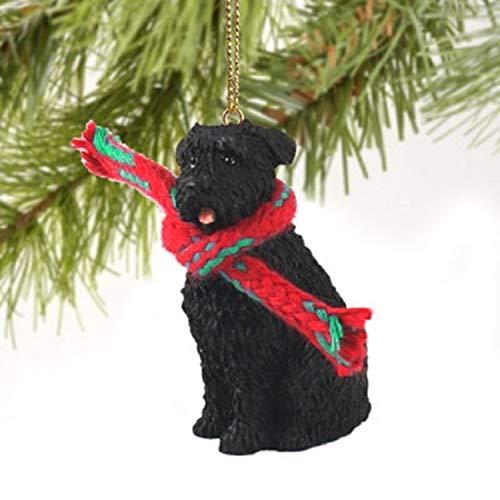 Bouvier des Flandres Miniatur Hund Ornament-uncropped Ohren -
