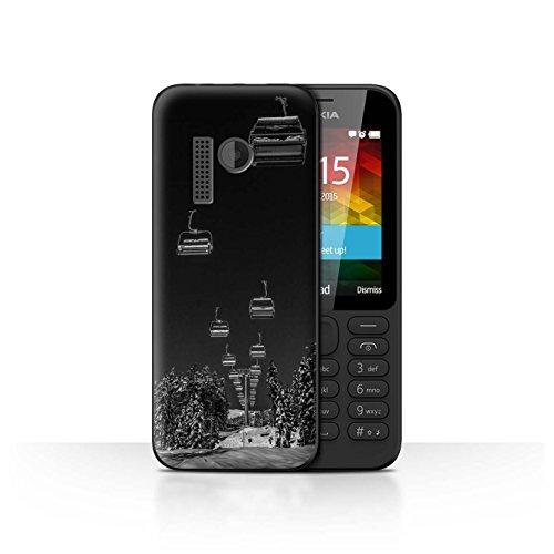 Stuff4® Hülle/Case für Nokia 215 / Ski Aufzug Muster/Skifahren/Snowboard Kollektion