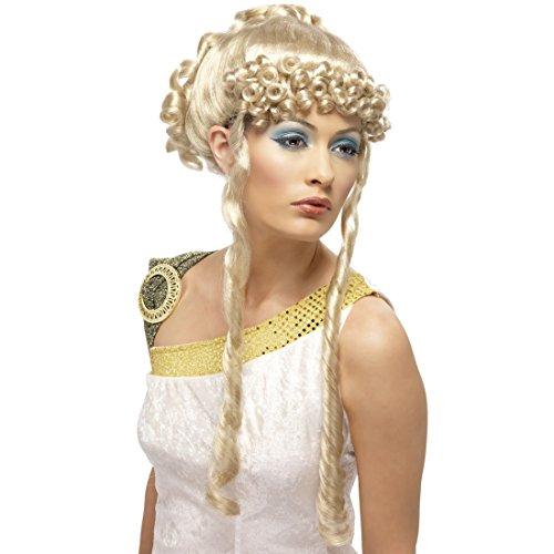 Amakando Göttin Perücke Gaia Griechin Damenperücke blond Göttin -