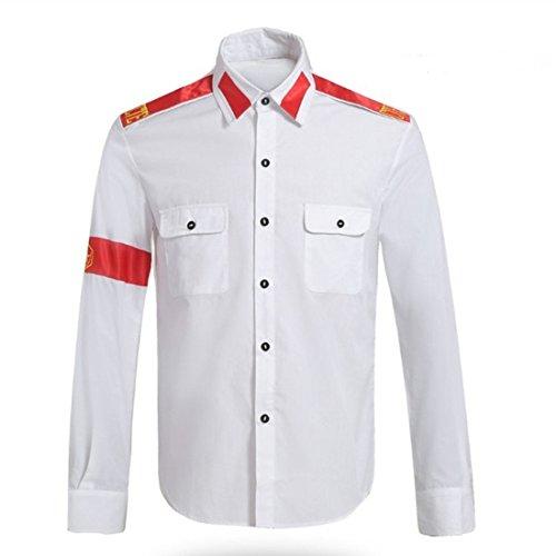 Kostüm Jackson Weiße Michael - Guangmu Michael Jackson Hemden für CTE Style Erwachsener und Kind Rollenspiele Party Rollenspiele Verkleiden Shirt Michael Jackson Kostüme (Weiß, M)