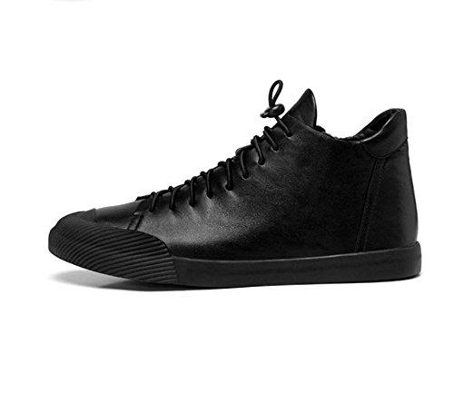respirante première couche de bottes en cuir pour hommes Martin bottes hommes bottes automne et les jeunes d'hiver de planche à roulettes