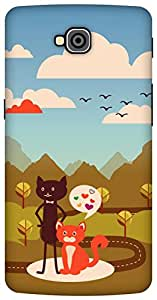 The Racoon Grip Cat Love hard plastic printed back case/cover for LG G Pro Lite