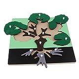 MagiDeal Montessori Holz Puzzle Tiere / Pflanz / Insekte Steckpuzzle Spielzeug, Kinder Baby Intelligenz Entwicklungsspielzeug - Baum