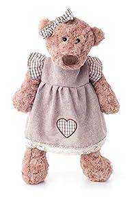 Woodyland 104594108 - Oso de Peluche para niña (33 cm), Color marrón