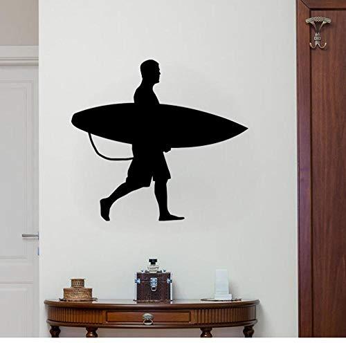 Wandsticker Surf Ocean Beach52X37Cm Vinyl Dekoration Zimmer Aufkleber Wandbild Kunst Diy (Surf-kuchen-dekorationen)