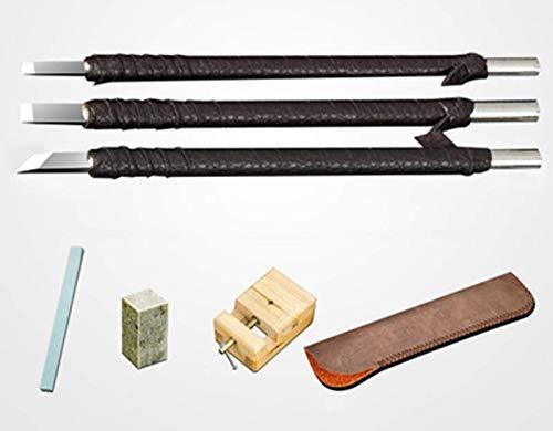 XYLUCKY Holzschnittwerkzeuge Kit-Tungsten Steel Carving Tools Whittling Kit Set-Preferred Craft Choice für Erwachsene oder Kinder-Großes Lerngeschenk für Anfänger oder Pro,b