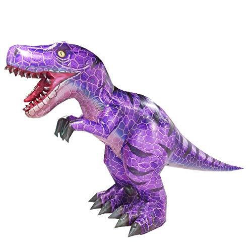 Happy Island Aufblasbares Tyrannosaurus-Kostüm Velociraptor Dinosaurier Erwachsene Halloween Rollenspiel-Spiel Verkleidung Cosplay Kleidung - violett - Large