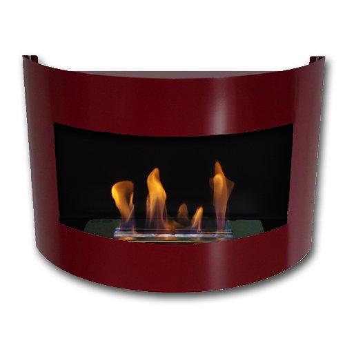 Gel-y-etanol-chimenea-acero-de-pared-Diana-Deluxe-Rojo-brillo-quemador-ajustable-1-litro