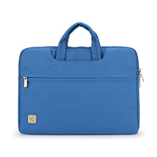 """Caison Classico 14 Pollici Laptop Sleeve Case Maniglia Superiore Totalizzatore Trasportare 14"""" Taccuino Borsa Copertina Astuccio (Blu)"""